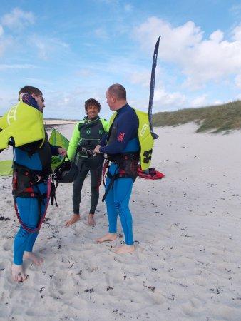 Plougastel Daoulas, France : Kite Coaching, école kitesurf Bretagne autour de Brest (Finistère), 3 stagiaires max/stage début