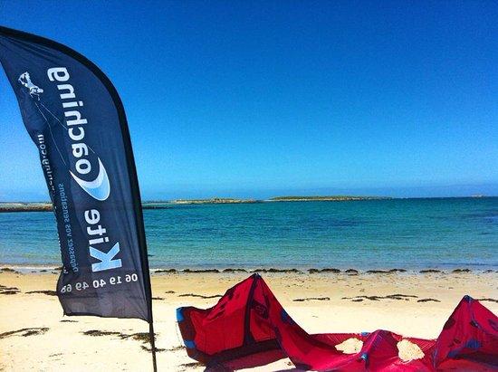 Kite Coaching, cours filmés dès le niveau débutant. Spot de l'Aber Wrac'h dans le Finistère