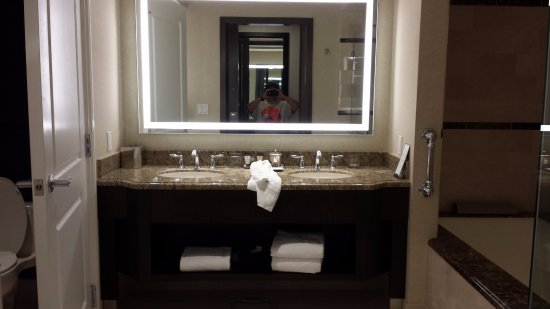 Lincoln, CA: Vanity. Comment about the sinks being too small true here too.