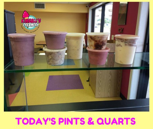 Nederland, TX: We have pints and quarts to take home.  Flavors vary daily!!
