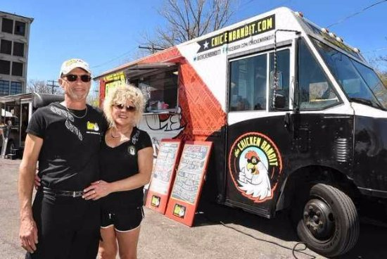 Owners Dennis Souva And Cindy Baker With The Chicken Bandit Food