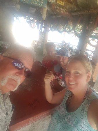 Mezcalitos Restaurant & Beach Bar Cozumel : Having fun!