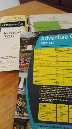 Avon Ri: List and Charging for activities available
