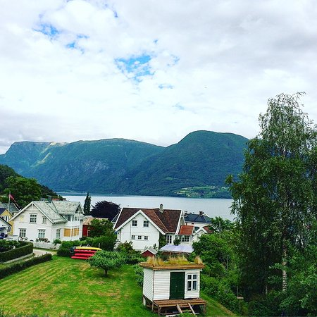 Solvorn, Norway: View of the fjord from the back porch