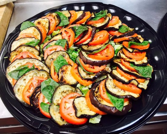 Germantown, MD: Caprese with  grilled eggplant platter