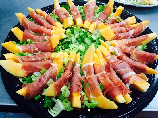Germantown, MD: Prosciutto and Melon Platter