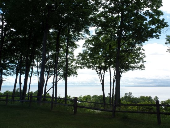 Suttons Bay, MI: View of the bay from the room