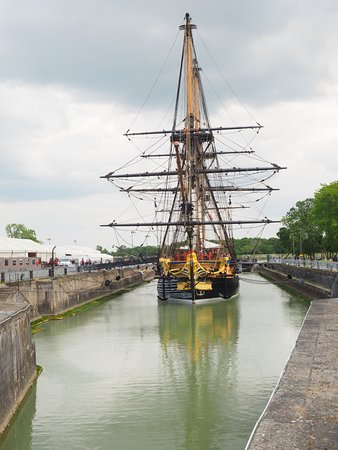 Rochefort, France : Many oak trees would have been felled to make this vessel