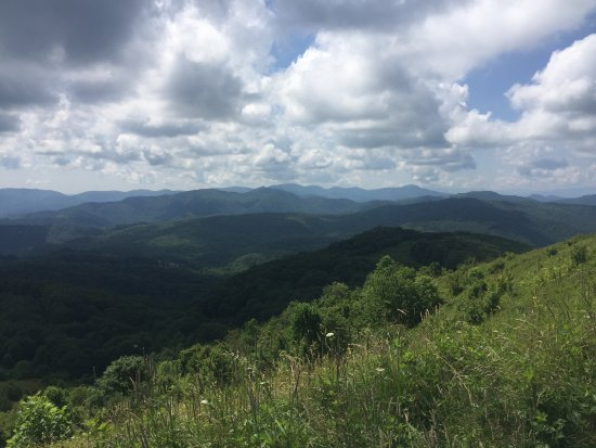 Max Patch: This was a wonderful trip with unobstructed views in all directions. Do not take the route on I4