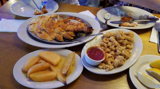 Astoria, NY: kyclades special, calimari and lemon potato