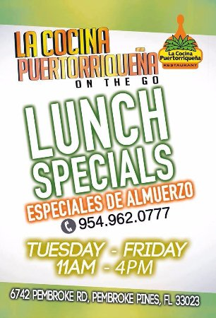 Pembroke Pines, فلوريدا: Lunch Special