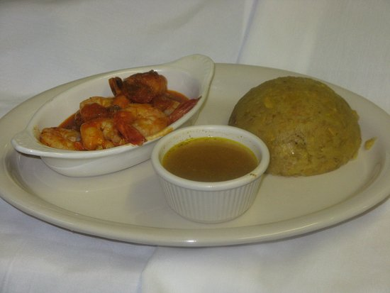 Pembroke Pines, فلوريدا: Mofongo con Camarones en Salsa
