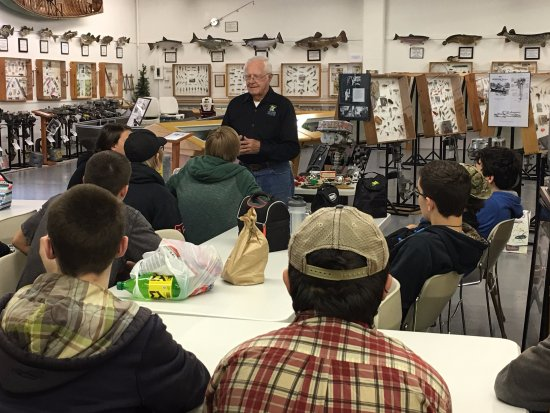 Little Falls, MN: Founder, Al Baert with a school tour.
