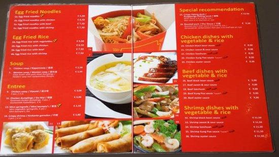 the menu - Picture of Asian Kitchen, Amsterdam - TripAdvisor