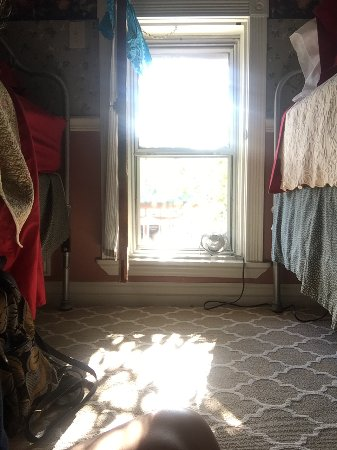 Frisco, Colorado: Small upstairs room with two twins, from seated floor position.