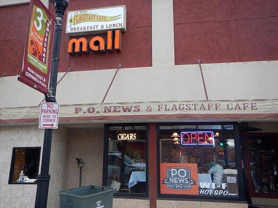 PO News & Flagstaff Cafe: A corner cigar store / cafe