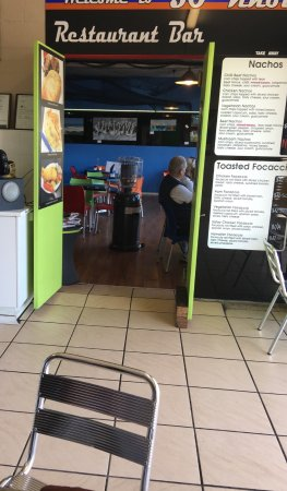 Eden, Australia: please note take away menu on the door, but what you order off that can't be eaten in there
