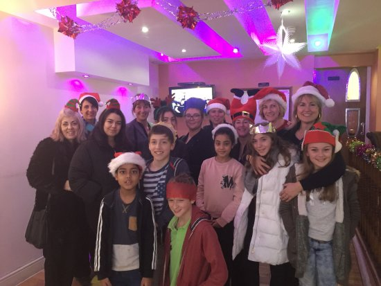 Burgess Hill, UK: Christmas party.