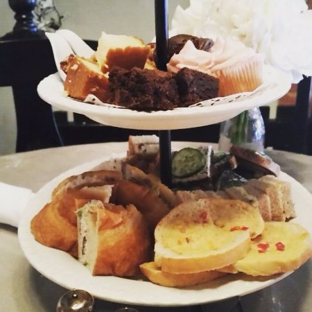 Hoschton, GA: Tea Tray of sandwiches and desserts