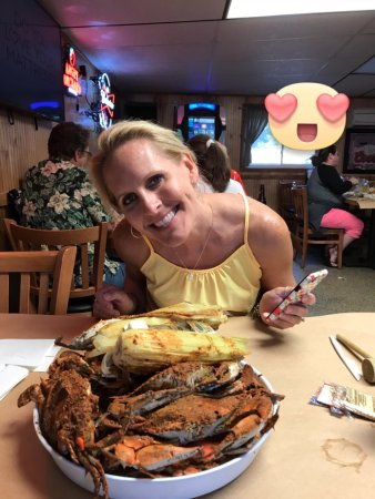 Joppa, MD: Previous visit, me and my girlfriend. These were the crabs that were not that good.