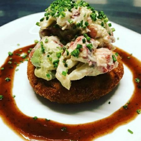Bristol, RI: Fried Green Tomato Lobster Salad
