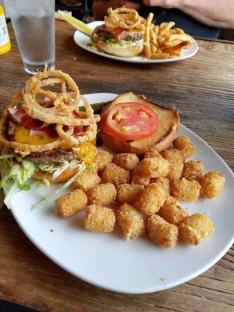 Richfield, MN: BBQ Burger with Tater Tots