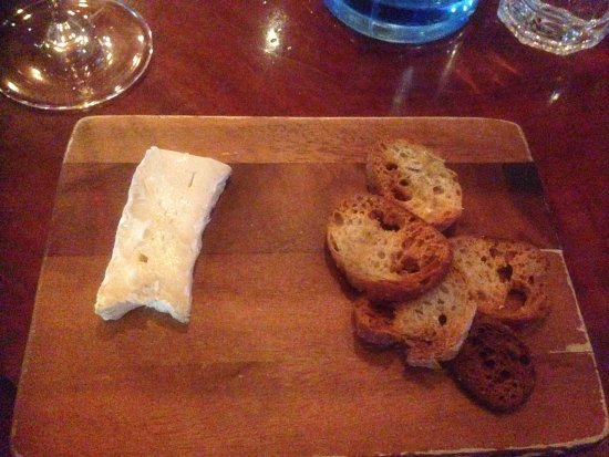 Bon Ap' Petit Bistro: The small plate of cheese is free, comes with an order of the wine.