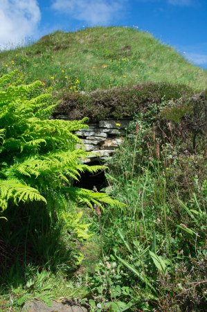 Orkney Archaeology Tours: Taversoe Tuick chambered cairn