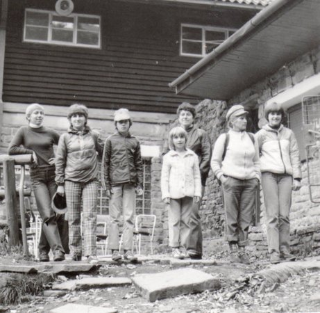 Moravian-Silesian Region, República Checa: My grandfather use to operate this chairlift. Here's a picture of some of my family members in f