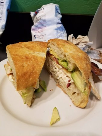 Parkside Market: Ranch, Roasted Chicken, Bacon, Avocado on great roll!