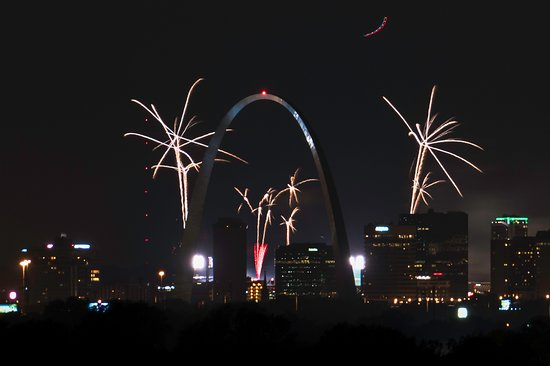 Collinsville, IL: Last July 4th, but these were from the stadium, not the park.