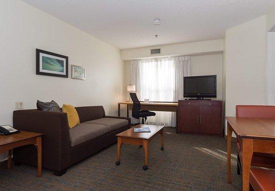 Huntersville, Carolina del Norte: One-Bedroom Suite - Living Room