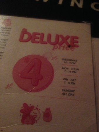 Bimbo Deluxe does have a extensive selection of pizzas on their menu