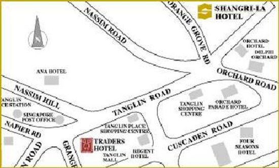 Shangri-La Hotel, Singapore : Map