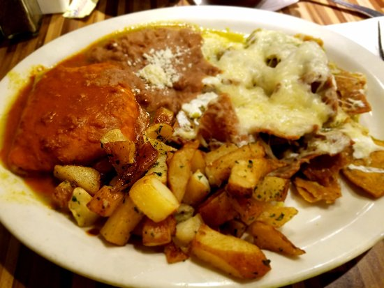 San Ysidro, CA: Achiote Slam with Achiote omelet and green chilaquiles