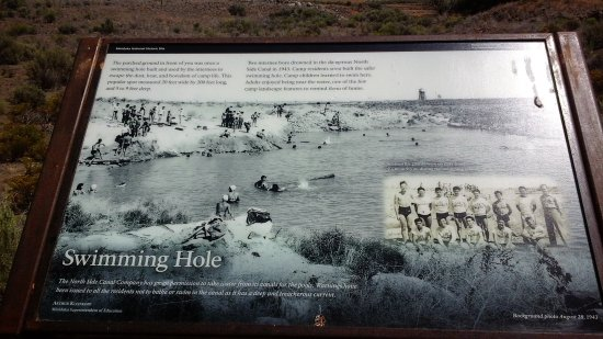 Minidoka Internment National Monument: Swimming Hole with Photographs of the Interned