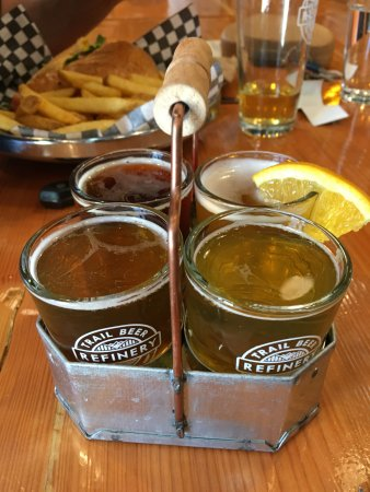 Trail Beer Refinery: beer samples