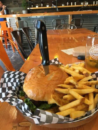 Trail Beer Refinery: One big hamburger