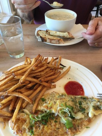 Souris, Canada: Portuguese Fish and Chips and Haddock, Crab and PEI Potato Chowder