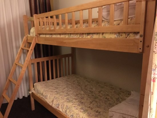 Fremont, IN: Family suites with bulk bed and a sofa bed. Nice for big family!