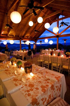 Hot Springs, VA: Wedding Reception at The Shooting Club Pavilion