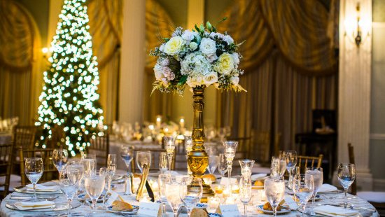 Hot Springs, VA: Holiday Wedding Theme in Empire Room
