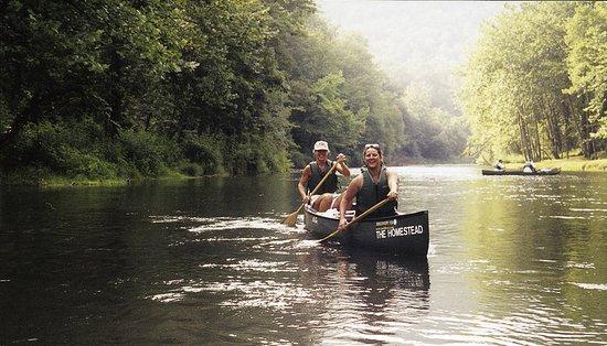 Hot Springs, VA: Canoeing on the Jackson River