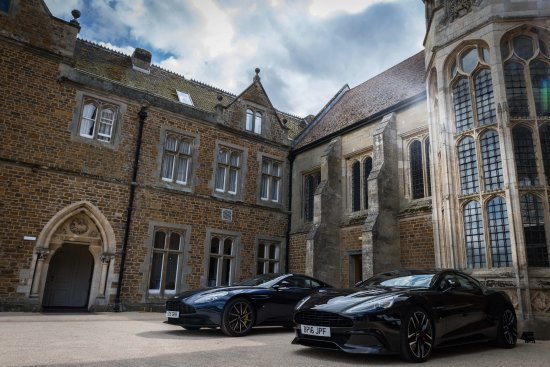 Fawsley, UK: And what could be more appropriate than having two British Aston Martins parked in front.