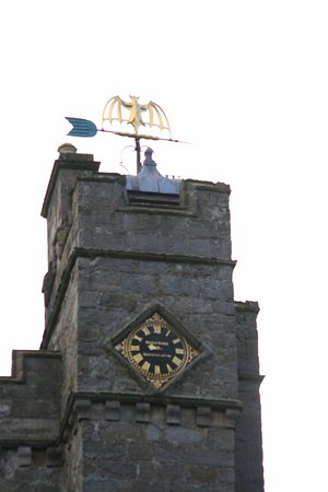 Chillingham Castle: Coat of Arms golden Bat at Chillingham
