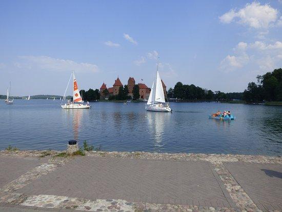 Trakai, Lithuania: widok z knajpy