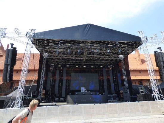 Trakai, Lithuania: na zamku organizuje się koncerty