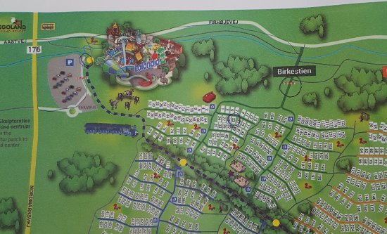 Lalandia Resort: Map of the area