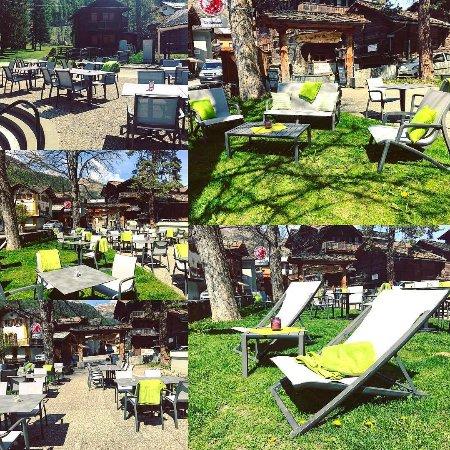 Эволен, Швейцария: Notre jolie terrasse !!