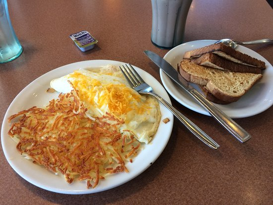San Mateo, CA: 55+ egg white omelet, hash browns and wheat toast